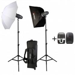Kit de Iluminação 2x 200 Ws