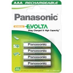 PANASONIC EVOLTA RECHARGEABLE 4X AAA MICRO